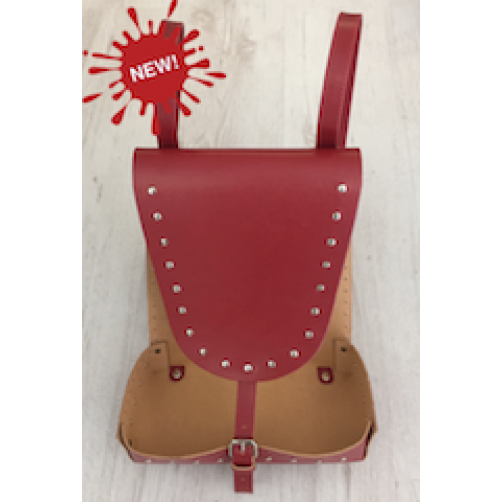 BASE ZAINETTO CON BORCHIE IN ECOPELLE BORDEAUX