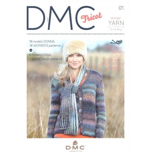 LIBRO DMC TRICOT WONDER YARN COLLECTION N°01