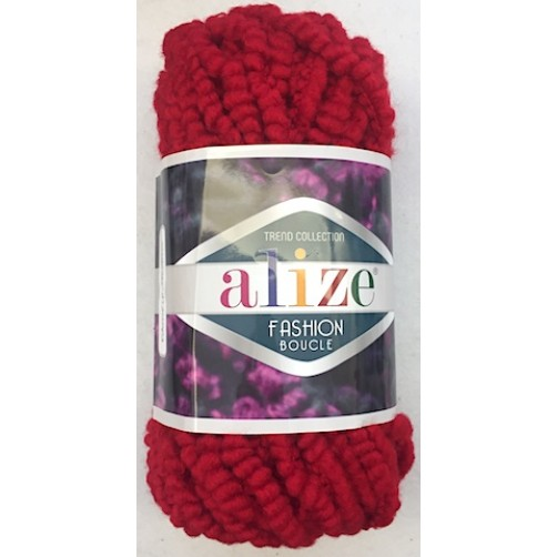 LANA BOUCLE FASHION COL ROSSO N°58 bagno 292540  gr 100