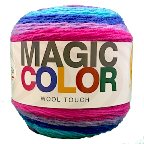 Gomitolo Lana Magic Color Wool Touch Mix Lilla/Turchese n°113