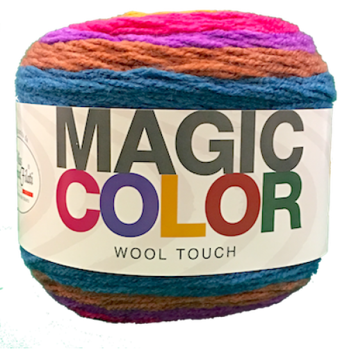 Gomitolo Lana Magic Color Wool Touch Mix Blu/Rosa n°111