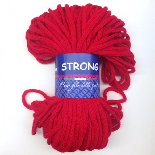 "LANA TRICCOTTONE ""STRONG"" N°96 ROSSO"
