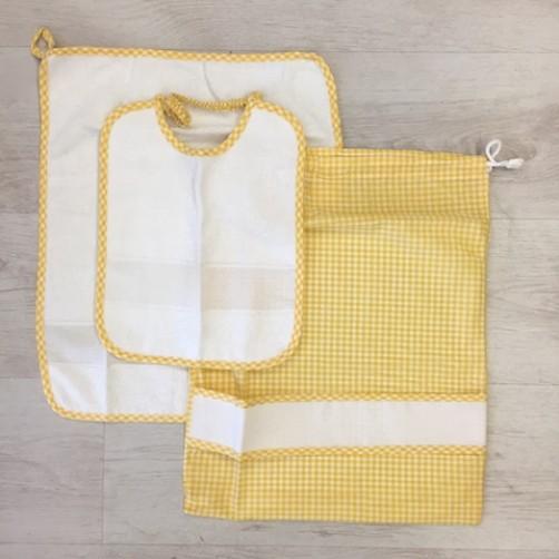 SET ASILO 3PZ GIALLO