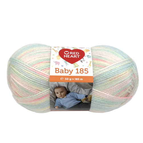 "Gomitoli Lana Red Heart ""Baby 185"" 50g Mix Colors n°00183"