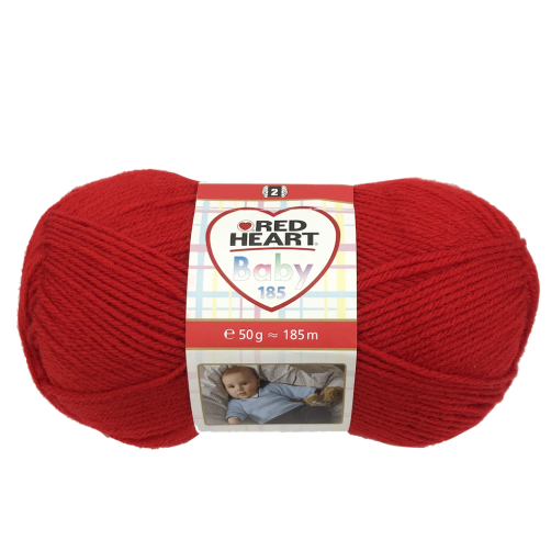 "Gomitoli Lana Red Heart ""Baby 185"" 50g Rosso n°01030"