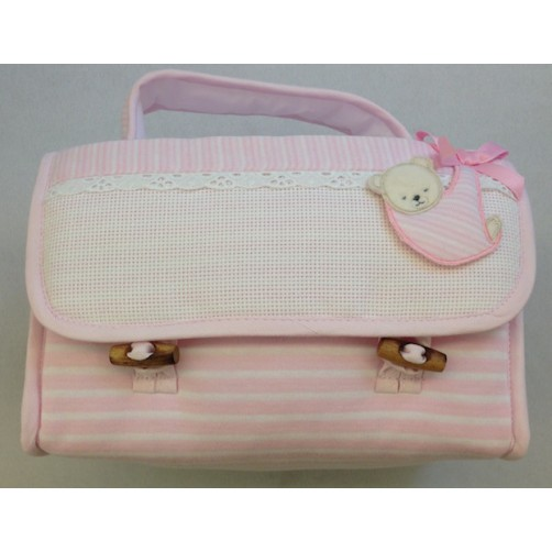 BORSA BEAUTY CASE COL ROSA
