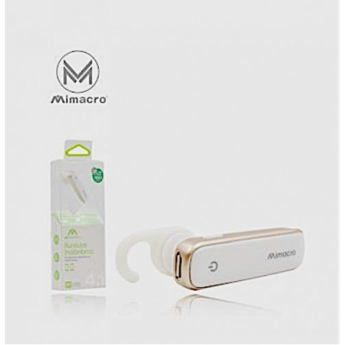 Auricolare Universale Wireless Range Bluetooth Colore Bianco Distanza 10Mt