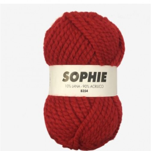 Gomitolo Lana Sophie 100gr 65m Rosso n°8