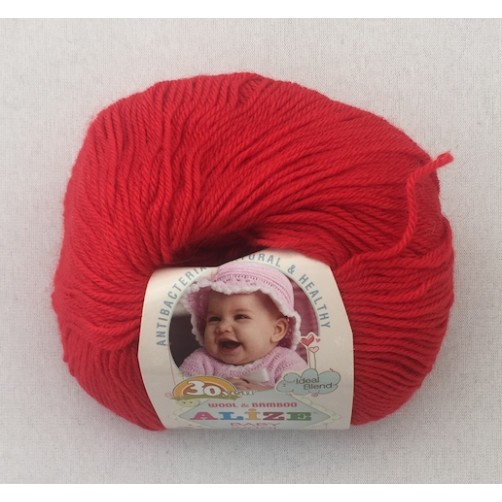 BABY WOOL ROSSO COL N°56
