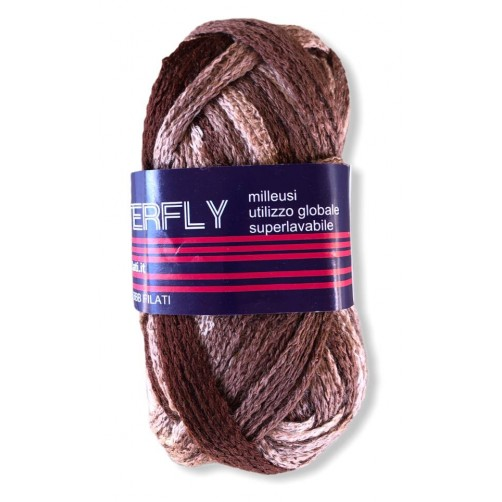 Gomitolo Big Butterfly 50g mix marrone n°11