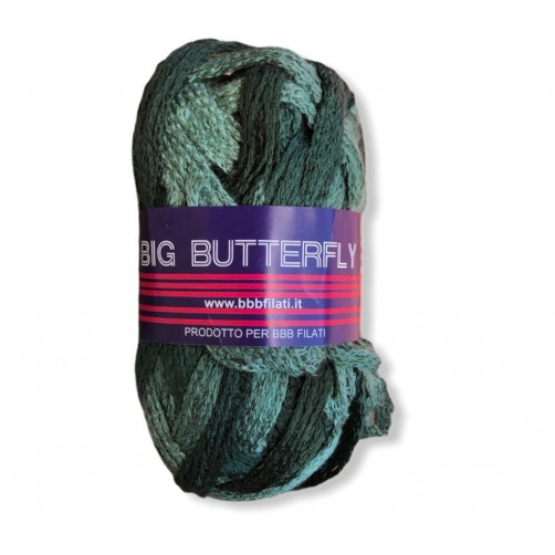 Gomitolo Big Butterfly 50g mix verde n°12
