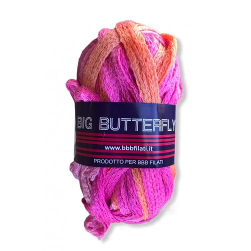 Gomitolo Big Butterfly 50g mix rosa