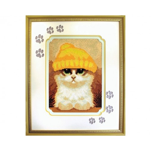 Collection D'Art Diamond Painting Cute kitten Misura 27x19 Cm