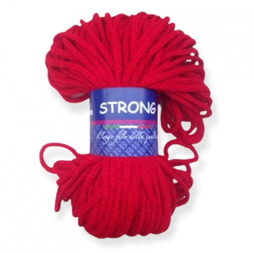 """LANA TRICCOTTONE """"STRONG"""" N°96 ROSSO"""