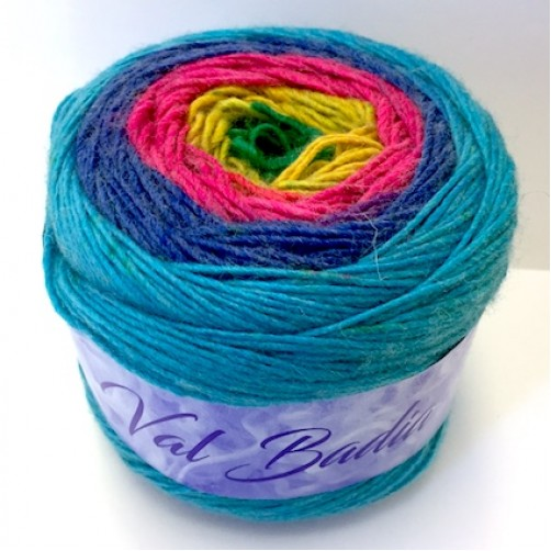 GOMITOLO LANA VAL BADIA 150g 450m/ca MIX COLOR N°100