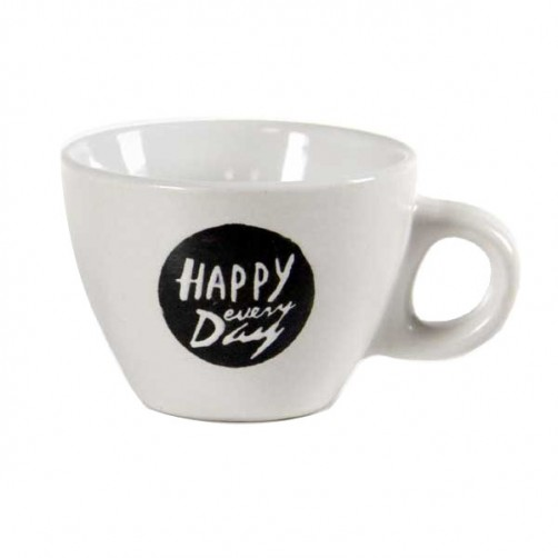 TAZZA CAFFE CERAMICA HAPPY DAY   Pz 6 BELLINTAVOLA