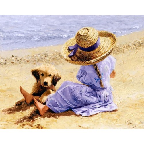 Collection D'Art Diamond Painting Summer day Misura 38x48 Cm