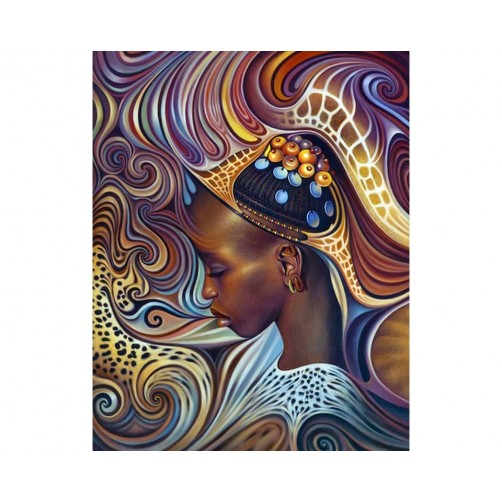 Collection D'Art Diamond Painting African theme Misura 38x48 Cm