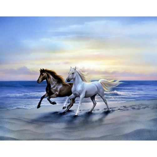 Collection D'Art Diamond Painting Arab horses Misura 38x48 Cm