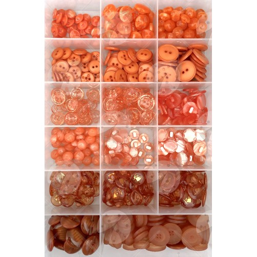 Offerta Stock Bottoni 432pz/ca Mix Arancio n°18