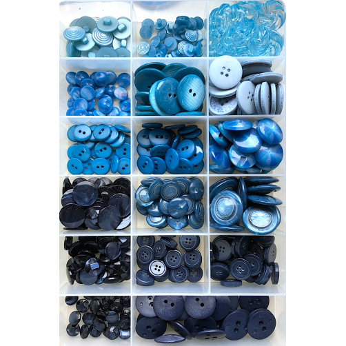 Offerta Stock Bottoni 432pz/ca Mix Azzurro n°08