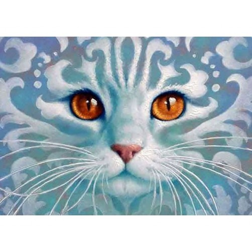 Collection D'Art Diamond Painting 38x27cm Ghostlike Cat