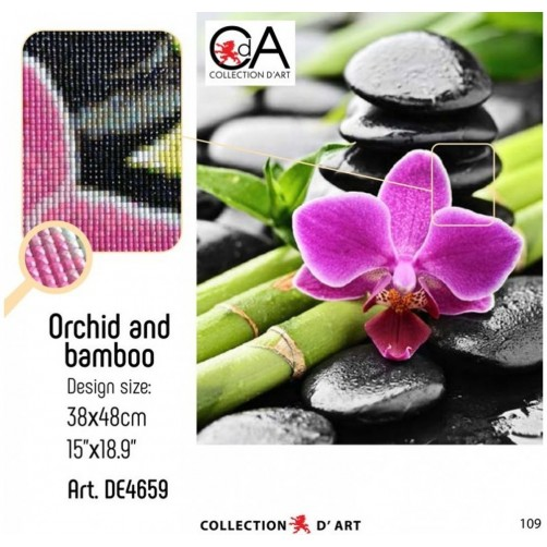 Collection D'Art Diamond Painting 38x48cm Orchid and bamboo