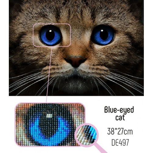 Collection D'Art Diamond Painting 38x27cm Blue-eyed cat