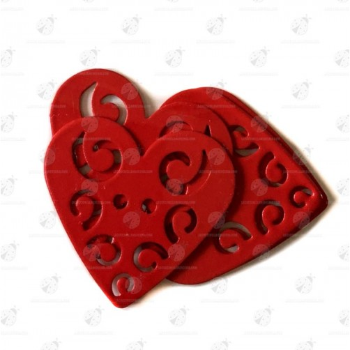 """Stock Bottoni a Cuore Rosso """"FavouriteFindings"""""""
