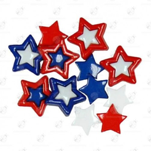 "Stock Bottoni ""Patriotic Stars"" 11 pezzi"