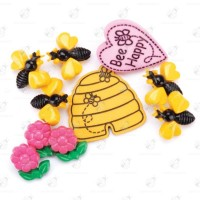 "Stock Bottoni ""Bee Happy"" 9 pezzi"