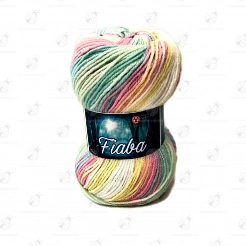 Gomitolo Lana Fiaba 100 gr. Mix Color N°103