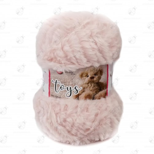 "Gomitolo Lana Effetto Peluche ""Toys"" Rosa Carne N°109"