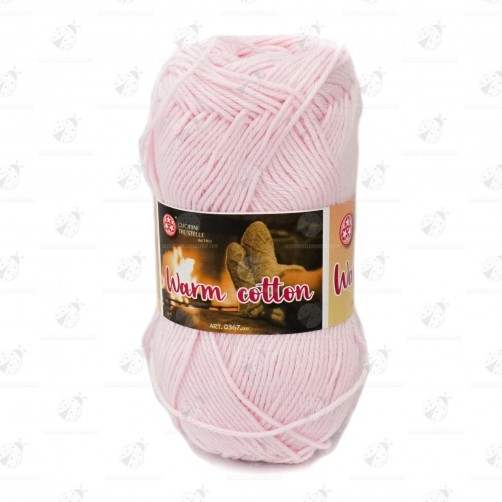 "Gomitolo Cotone ""Warm Cotton"" Rosa N°117"