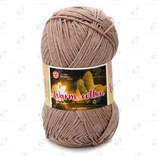 "Gomitolo Cotone ""Warm Cotton"" Marrone N°32"