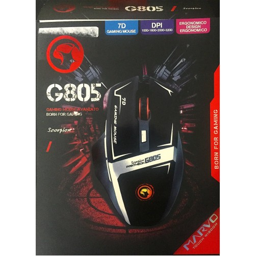 Mouse Ottico 7D Cablato Marvo For Gaming G805
