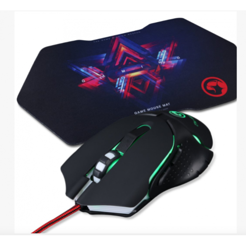 Mouse 6D retroilluminato In 7 Colori + Mouse Pad Marvo For Gaming M309+G7