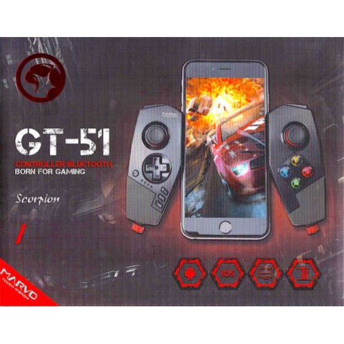 Controller Bbluetooth For Gaming GT-51 Per Smartphon E Ipad