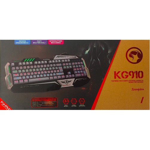 Tastierta Meccanica Marvo Retroilluminata Born For Gaming KG910