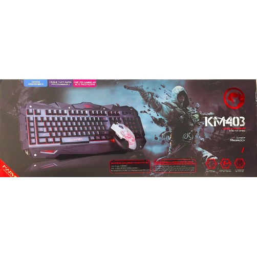 Kit Tastiera E Mouse Gaming Marvo Retroilluminato KM403