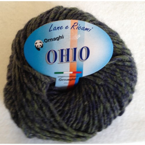 Gomitolo Lana Ohio 50g MIx Blu N°934