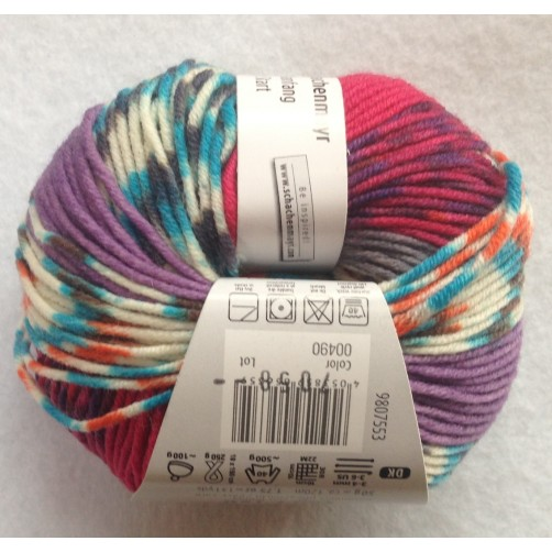 Gomitolo Lana Merino Extrafine 50g  Mix Color n°490