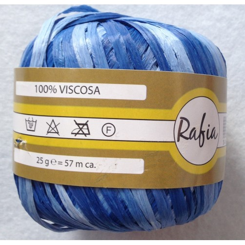 RAFIA 1005 VISCOSA MIX BLU COL N°345
