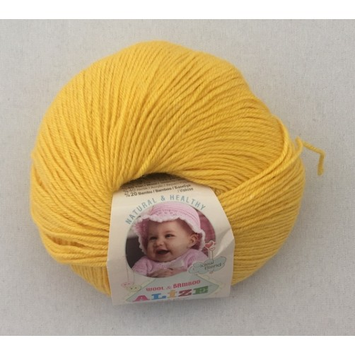 BABY WOOL GIALLO COL N°216