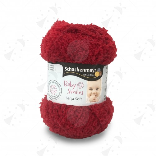 Gomitolo Baby Smiles Lenja Soft 25g Rosso n°01031