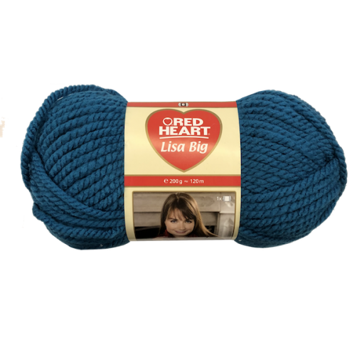 Gomitolo Lana Red Heart Lisa Big 200g 120m Blue Zaffiro n°152