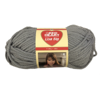 Gomitolo Lana Red Heart Lisa Big 200g 120m Grigio n°198