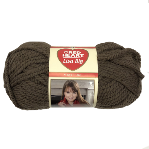 Gomitolo Lana Red Heart Lisa Big 200g 120m Taupe n°110