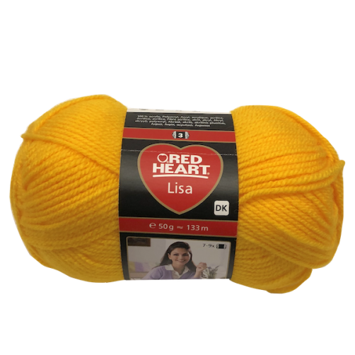 Gomitolo Lana Red Heart Lisa 50g 133m Giallo n°184