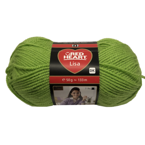 Gomitolo Lana Red Heart Lisa 50g 133m Verde n°8194
